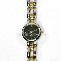 Fossil F2 Watch Womens Gold Silver Stainless Steel Water Resistant Black Quartz - $33.46