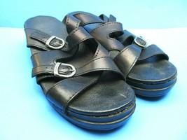 Dansko Womens Black Cross Strap Double Buckle Sandals Size US 10 Eur 41 - $28.13
