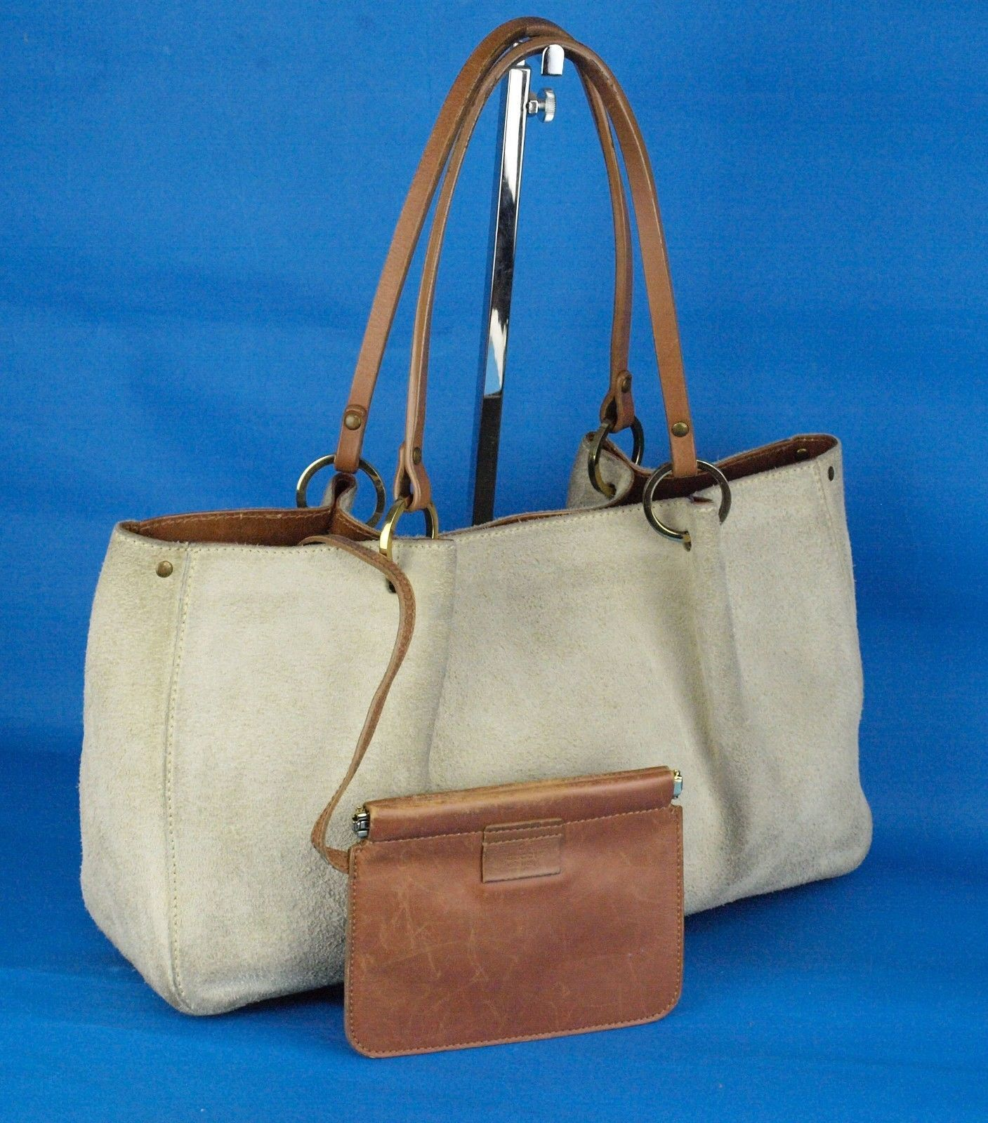 c493c032011 Auth Gucci Natural Suede   Brown Leather and 50 similar items