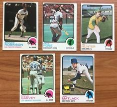 1973 Topps Baseball Card Lot Of 5 w/ Pete Rose, Steve Garvey - $19.75