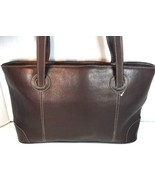 Piel Dark Brown Leather Tote Bag Hand Made In Colombia - $73.71