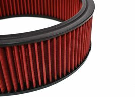 """HIGH FLOW WASHABLE & REUSABLE ROUND AIR FILTER ELEMENT REPLACEMENT 14"""" X 4"""" RED image 6"""
