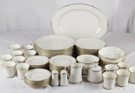 Vintage Set of 80 Noritake Fine China Golden Cove Dinnerware Japan - $994.94