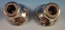 Aztec Rose by Maciel Mexican Sterling Silver Candlestick Pair #0162-13 (#1864) image 4