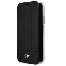 Mini Cooper Debossed Lines PU Leather Booktype Case for  iPhone X Black ... - $50.97