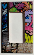 Street Art Wall Painting Chair Light Switch Outlet Wall Cover Plate Home decor image 2