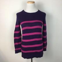 LOFT Ann Taylor Women's Purple & Pink Striped Thick Knit Sweater Size Small  - $15.83