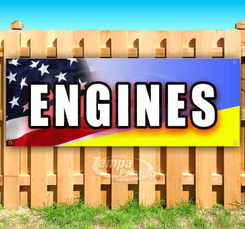 Primary image for ENGINES Advertising Vinyl Banner Flag Sign Many Sizes MECHANIC REPAIR AUTOMOTIVE
