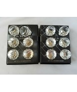 Tahari Home Drawer Knobs Set of 12 Crystal Faceted Pull Clear Round New ... - $122.03