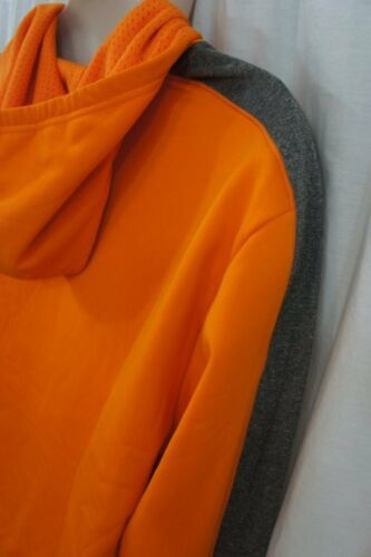 Champion Hommes Sweatshirt Taille M Kaki Orange Gris à Capuche Pull-Over Double