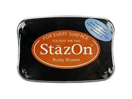 Stazon Full Size Ink Pad, Rusty Brown