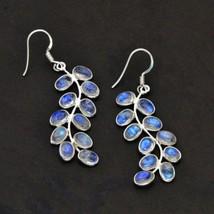 Very Beautiful Moonstone Earrings, 925 Silver, Handmade - $32.00