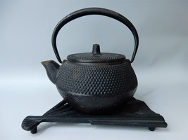Japanese Antique Nambu Iron Tea Kettle Tea Pot Tetsubin Chado Tea Ceremo... - $58.09