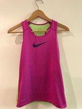 Nike Pro Girl's Training Tank Size M 811576-542 DRI-FIT Pink Green - $12.95