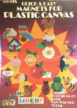 Leisure Arts Quick & Easy Magnets Plastic Canvas 19 Designs Leaflet 226 ... - $6.85