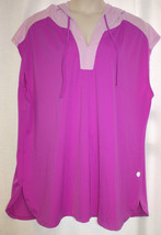 New Womens Plus Size 26W 28W Magenta And Orchid Swim Suit Coverup With Hood - $19.34