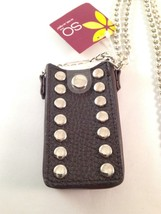 NEW SO Ipod Mini Brown Case with Chrome Chain and Chrome Buttons - $14.95