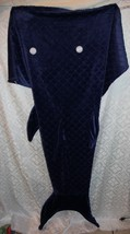 Fish Whale Shark Snuggie Blanket Blue Tail Wearable Blanket - $24.98