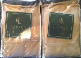 New Ralph Lauren Rodeo Drive Tan Solid King Pillow Shams - 2 King - Orig... - $55.85