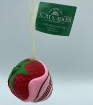 Chocolate covered strawberry foam ornament pink chocolate spiral kurt adler - $9.48