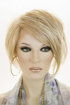 Strawberry Tipped Pale Blonde Blonde Short Lace Front Jon Renau Straight Wigs - $177.72