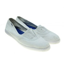 Keds Chillax Womens White Canvas Retro Style Laceless Slip-ons Sneakers ... - $19.79
