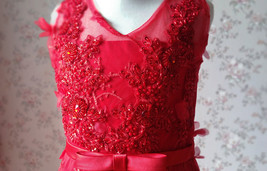 A-Line Princess Floor Length Flower Girl Dress-Tulle Sleeveless Scoop Neck NWT image 9