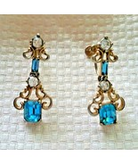 Unbranded Vintage Mid Century Articulated Dangle Gold Tone Screw Back Ea... - $49.99