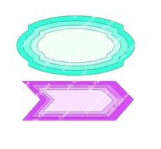 Nested Oval and Arrow Frames DIGITAL File.  Instant Download.  No Physical Prode