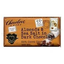 Chocolove Almond SeaSalt Dark Chocolate (12x1.3OZ ) - $16.74
