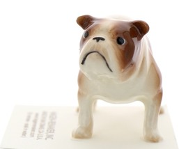 Hagen-Renaker Miniature Ceramic Dog Figurine Bulldog Standing Brown & White image 2