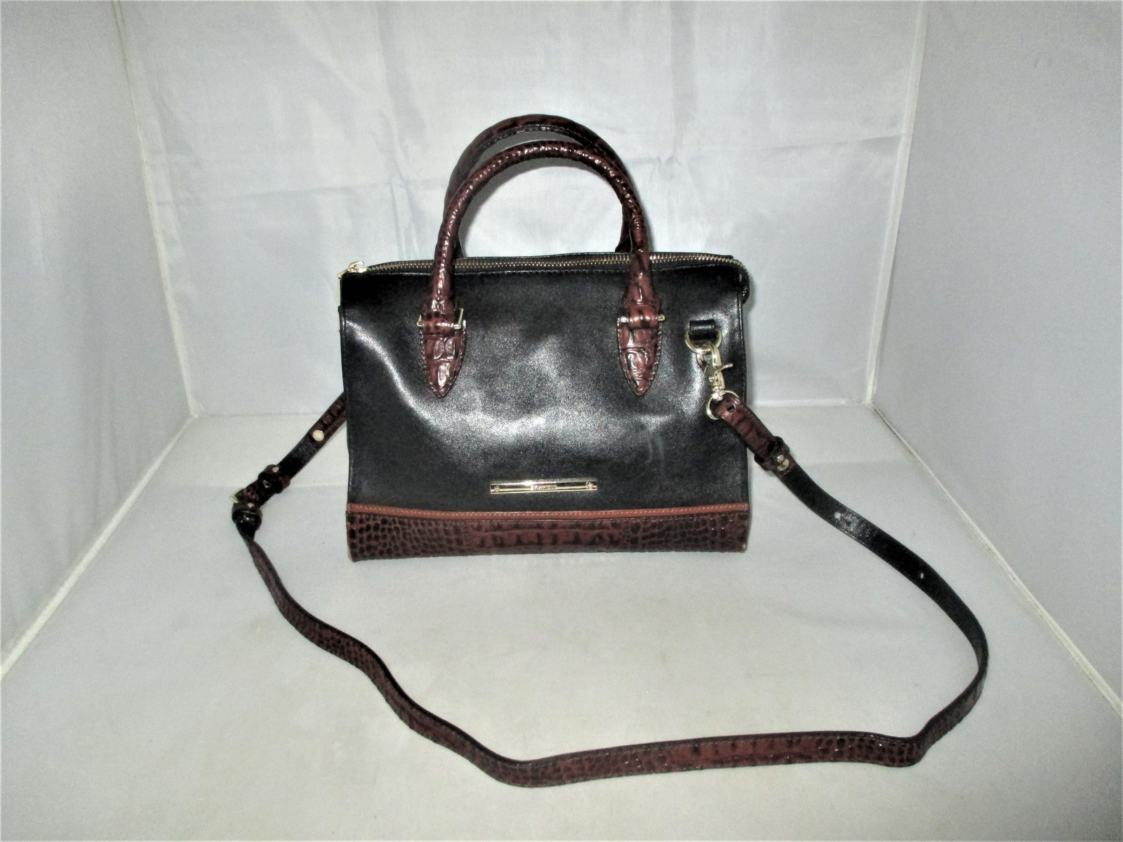 Brahmin Tuscan Tri-Texture Anywhere Convertible Satchel, Shoulder Bag,Tote $255 image 1
