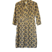 Maeve Anthropologie Wightwick Manor Corduroy Floral Shirt Dress Size 8 P... - $34.70
