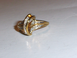10K Yellow Gold Diamond Cocktail Ring, I1-I2 / H-I, Size 6.5, 0.25(TCW), 2.5GR - $170.99