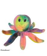S&B Toy Co Tye Die Multicolor Octopus Ocean Marine Plush Stuffed Animal ... - $19.80