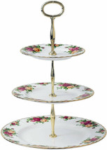 Royal Albert Old Country Roses Cake Stand 3-Tier New In Box - $124.90
