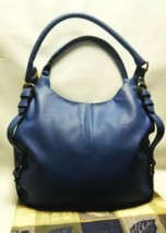 Merona Navy Blue Hobo Bag/Purse With Gold Accents. - $19.80