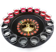 Russian Lucky Shot  Roulette Drinking Game with 16 Glass Spin Wheel Boa... - $59.99