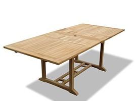 "Genuine Grade A Teak 82""x39"" Rectangular Double Extension Table.58"" clos... - $1,495.00"