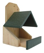 JCs Wildlife Cedar Robin Roost Birdhouse with Recycled Poly Lumber Roof,... - $26.53