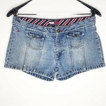 Tommy Hilfiger Denim Distressed Jean Shorts Junior Womens Size 7 Tommy Jeans - $9.73