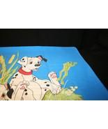 101 Dalmatians Disney Std Pillowcase Twin Bed Puppies Frog Chick Blue Green - $14.95