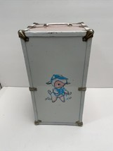CASS TOYS Doll Case Trunk Wardrobe - Vintage 1950s - Metal - Pink/White ... - $16.63