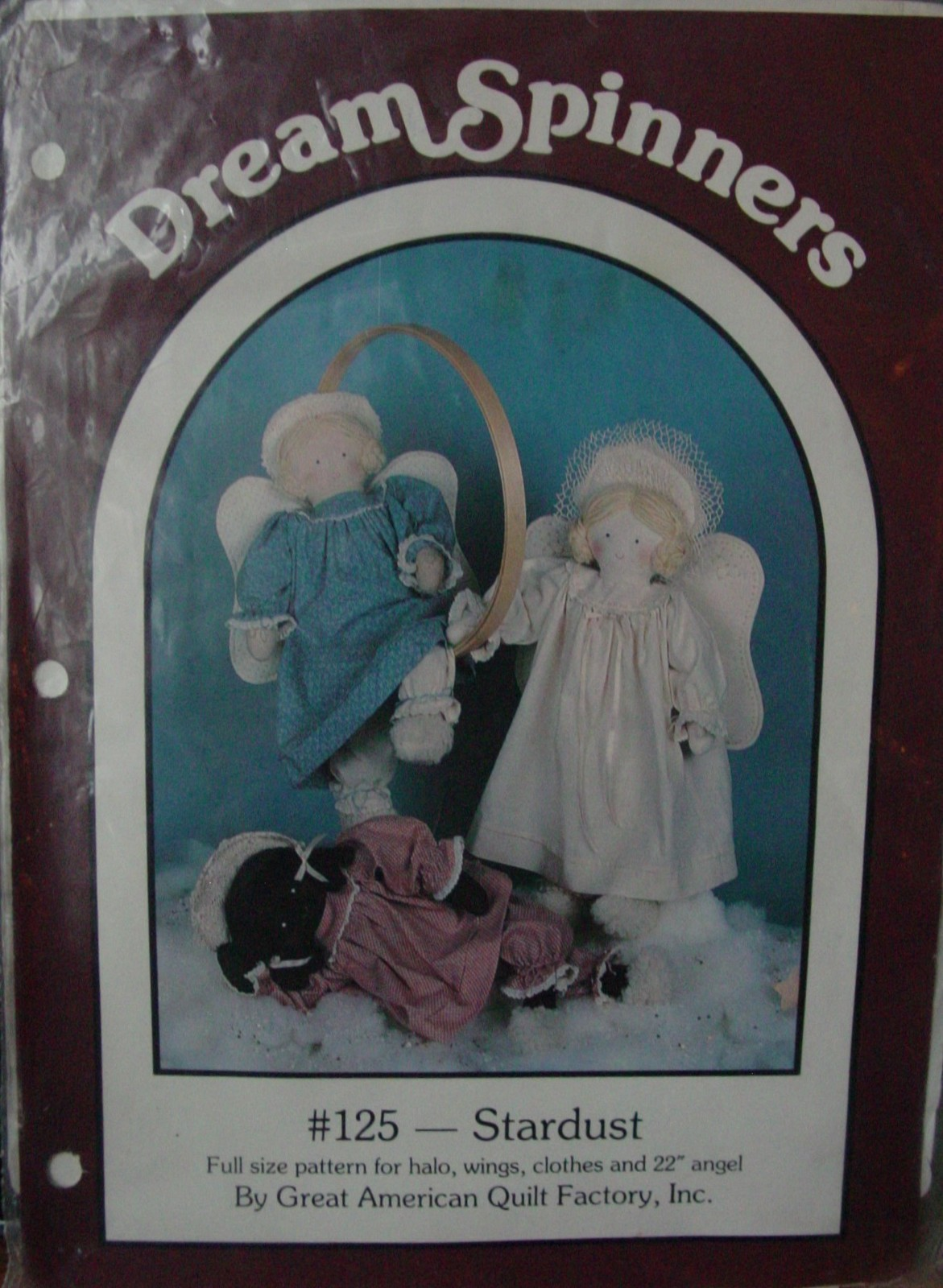"""Sewing Pattern 125 """"Stardust"""" Angels or Rag Dolls 22"""" (Used) - $1.99"""