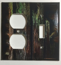 Color Barn Wood Light Switch Outlet Toggle Rocker Wall Cover Plate Home Decor image 7