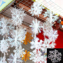 Christmas Snowflake 30pcs White Ornaments Xmas Tree Home Party Artificia... - $8.86