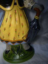 Vaillancourt Folk Art Large Lady Rabbit 12 in Beautiful Piece Signed image 5