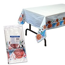 "Amscan 571292 Sports Party Plastic Table Cover, 54"" x 84"", Multi Color - $4.84"
