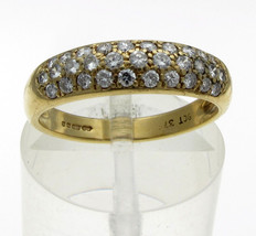 9 Carat Yellow Gold Diamond Pave Set Ring, Approx Third Carat, Size K - $133.13
