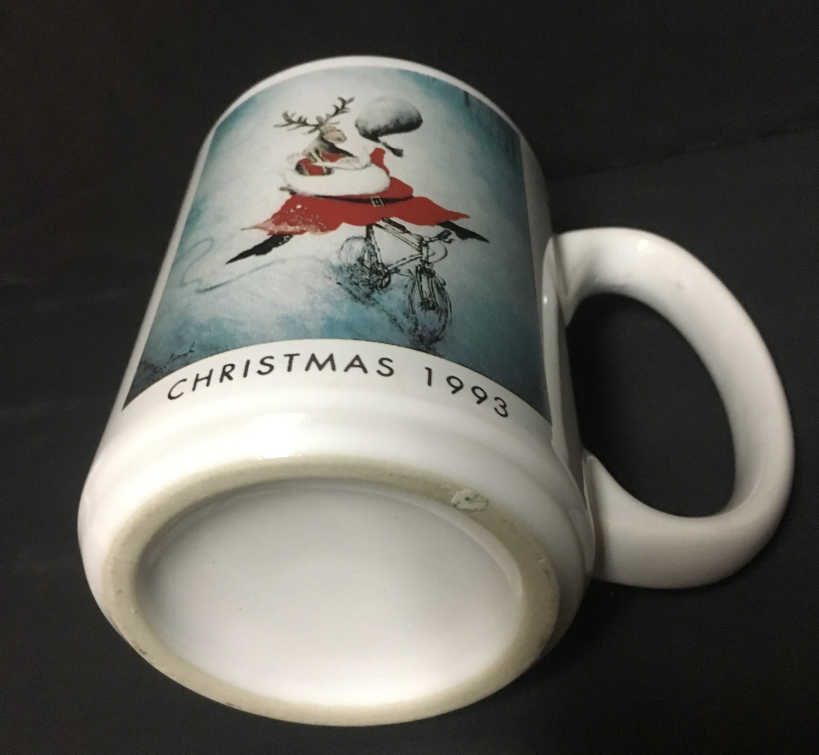 Neiman Marcus 12 OZ Christmas Santa Sleigh Mug 1993